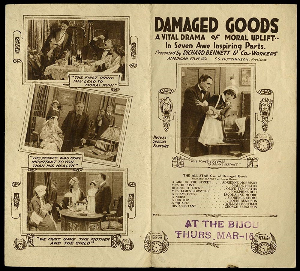 'Damaged Goods': Social hygiene propaganda and film censorship